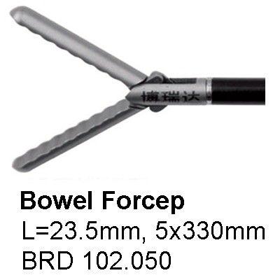 Bowel forcep with rachet 5X330mm - جراسبر منظار جراحى ناعم