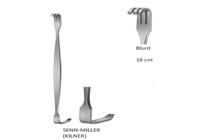 Senn miller retractor blunt  16cm مباعد جلد مللر 16سم بلانت انجليزي SNAA