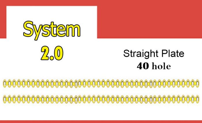 Straight Plate 40 hole شريحه ميني مستقيمة 40 ثقب