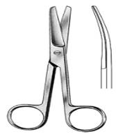 مقص تشريح منحني باكستاني Op-Scissors  cvd 16cm, S/S