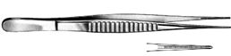 جفت كلامب ديبيكي DeBakey Atraumatic Tissue Fcps 1.5mm, 16cm, S/S