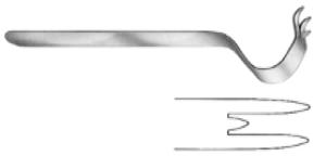 Obwegeser Chin Retractor 16cm, S/S مباعد افوجيزر للذقن 16 سم انجليزي SNAA
