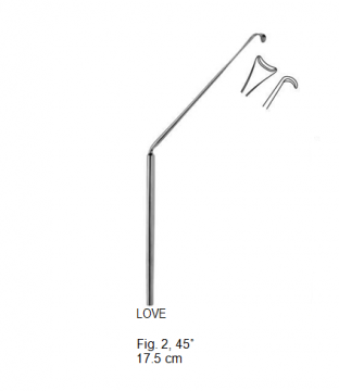 Love, Nerve Root Retractor, 45°, 17.5 cm مباعد جذرعصب