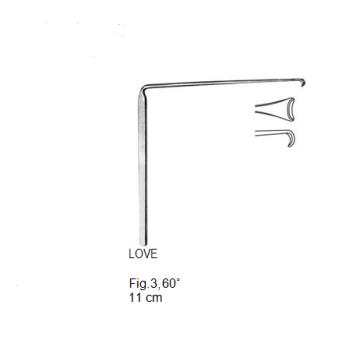 Love, Nerve Root Retractor, Fig. 3, 60°, 11 cm