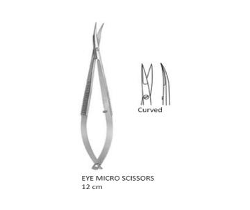 Micro Scissor curved 12 cm انجليزي SNAA مقص ميكرو