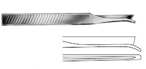 Silver (Frenchay) Nasal Chisel straight  18cm, S/S تشيزل  قاطع عظام الانف ( جارد استيتوم ) مستقيم 18 سم انجليزي SNAA