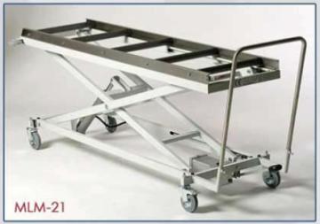 تروللى رفع جثث ستانلس سهل الحركة والاستخدام يتحمل  حتى 250 كجم