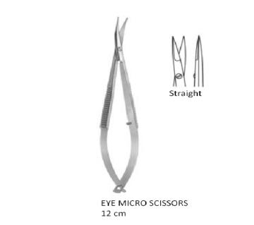 Micro Scissors straight  12 cm انجليزي SNAA مقص ميكرو