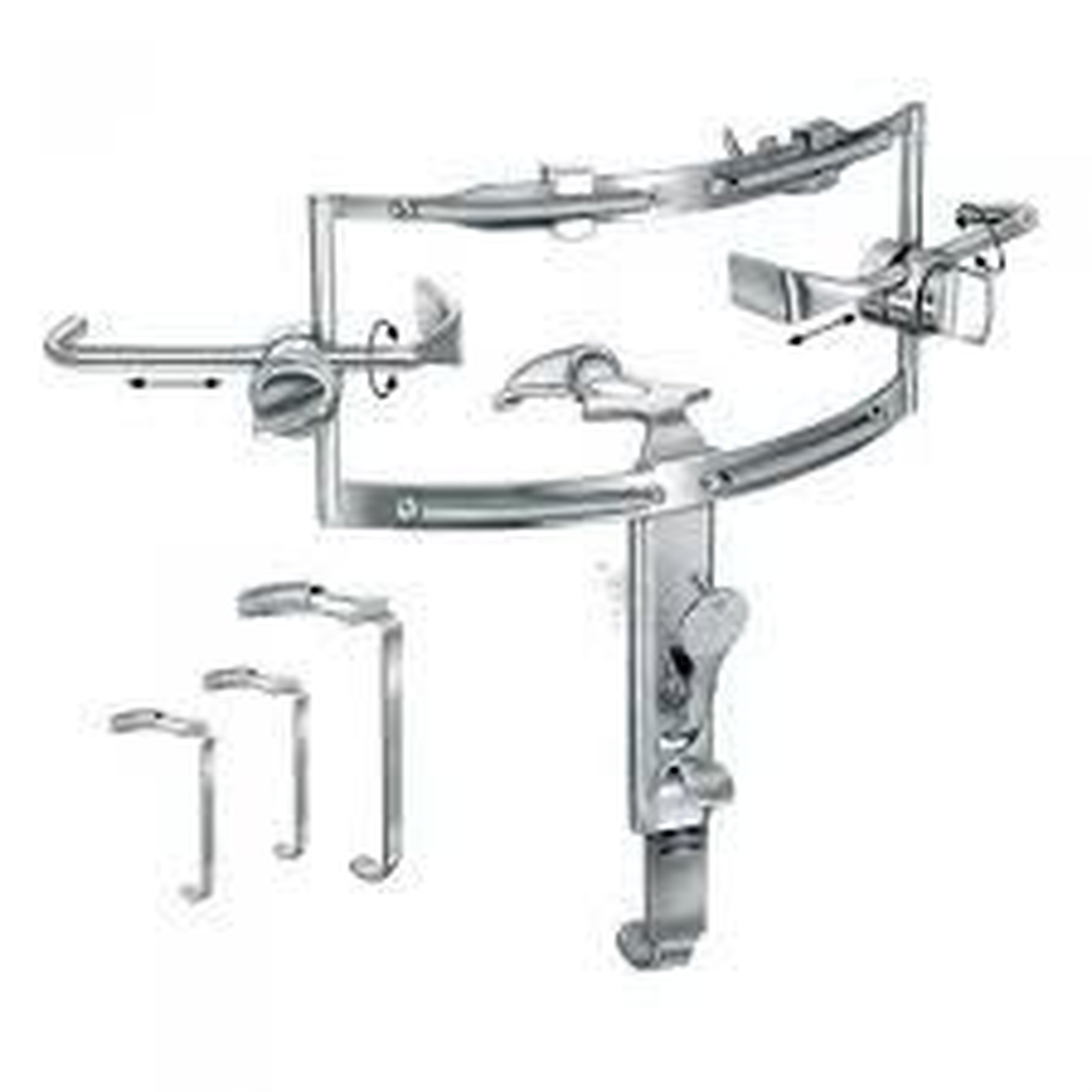 Dingman Cleft Palate Repair Mouth Gag set, with 3 platesS/S فاتح فم دنجمان لشق سقف الحلق - 3 سلاح انجليزي SNAA