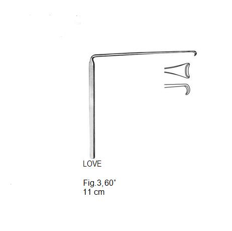 Love, Nerve Root Retractor, 60°, 11 cm مباعد جذرعصب انجليزي