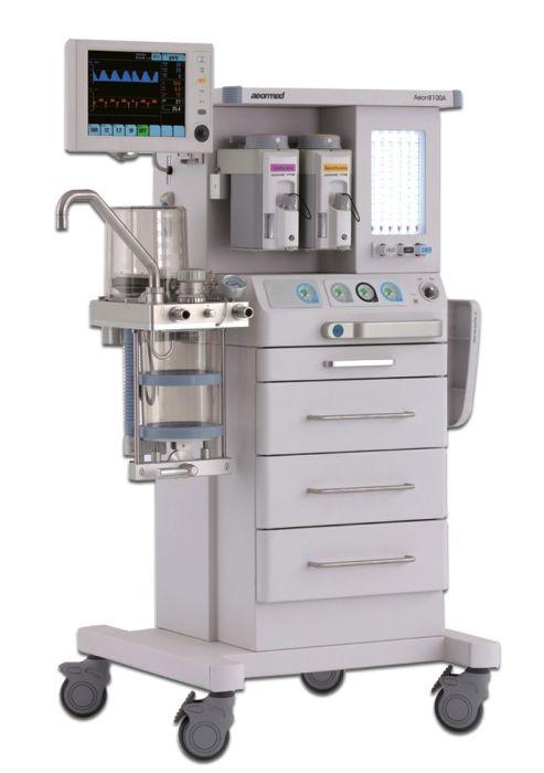 جهاز تخديرAEONMED 8100 مبخر  سيليكتاتيك انجليزى فلومييتر مزدوج زر تدفق الاوكسجين O2 Flush CGO بمدمج جهاز تنفس صناعى اليكترونى و دائرة مغلقة