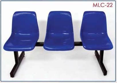 كنبة انتظار 3 مقعد بلاستيك انسيابية ومريحة تصلح للمكاتب والعيادات