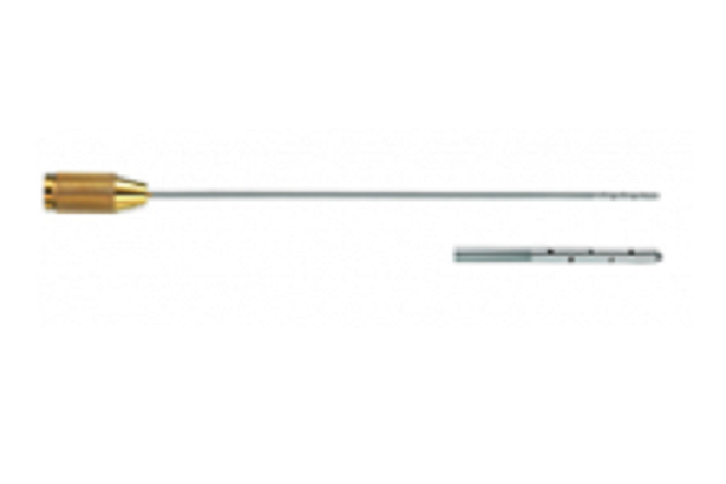 كانيولا حقن محلول  Infiltration cannula 25cm*3mm Leur Lock, S/S GOLD