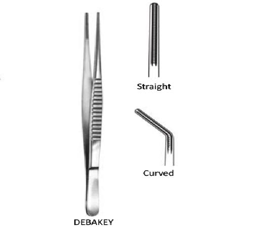 Debakey Tweezer Straight. 5 cm  جفت ديبيكي انجليزي SNAA