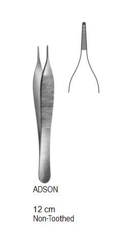 Adson tissue forceps non toothed 12cm أديسون بدون سن