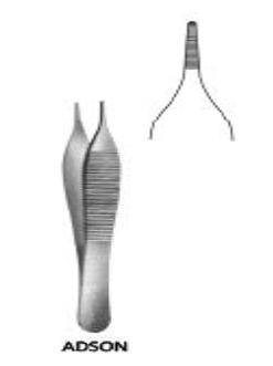 Adson Forceps 1x2 Teeth, 12cmجفت اديسون بسن 12 سم  انجليزي SNAA