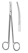 Metzenbaum dissecting Scissors curved \ blunt  18 cm انجليزي SNAA مقص متزنبوم